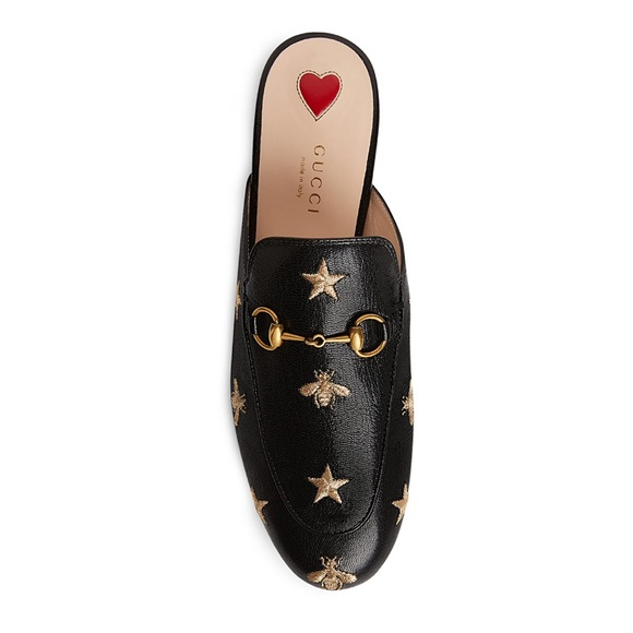 aa98f82e0a0 Gucci Princetown Embroidered Bee Mule 38.5